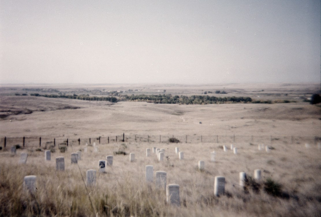 Custer's Last Stand Hill now renamed the Little Bighorn Battlefield
