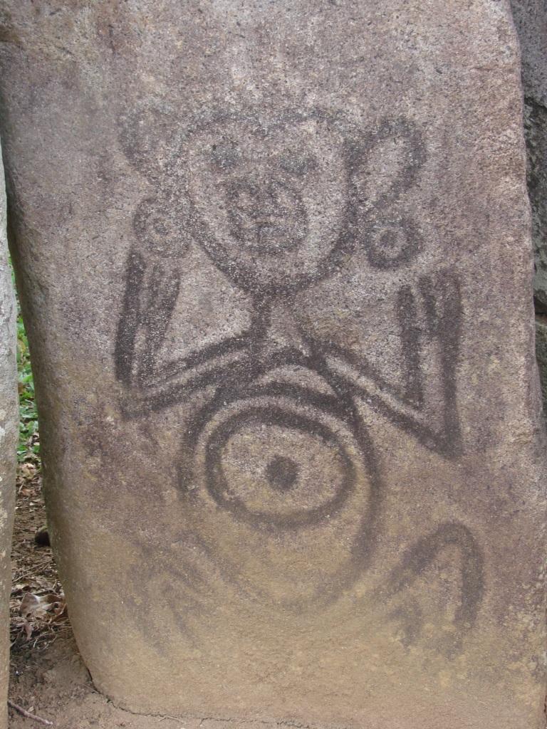 petroglyph symbolizing a woman