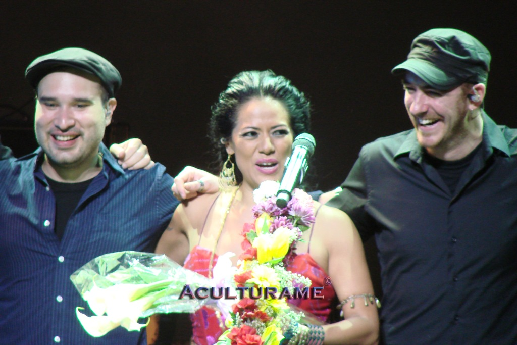 Lila Downs concluding the concert at Hylton Performing Arts Center
