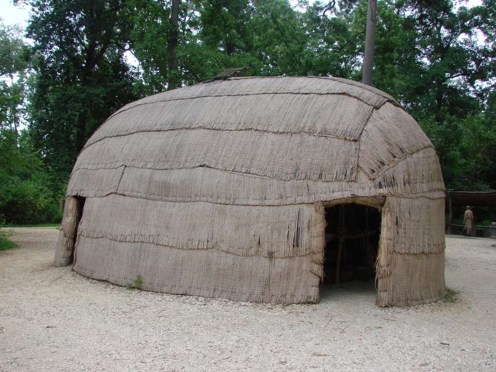yehakins - Powhatan Indian house