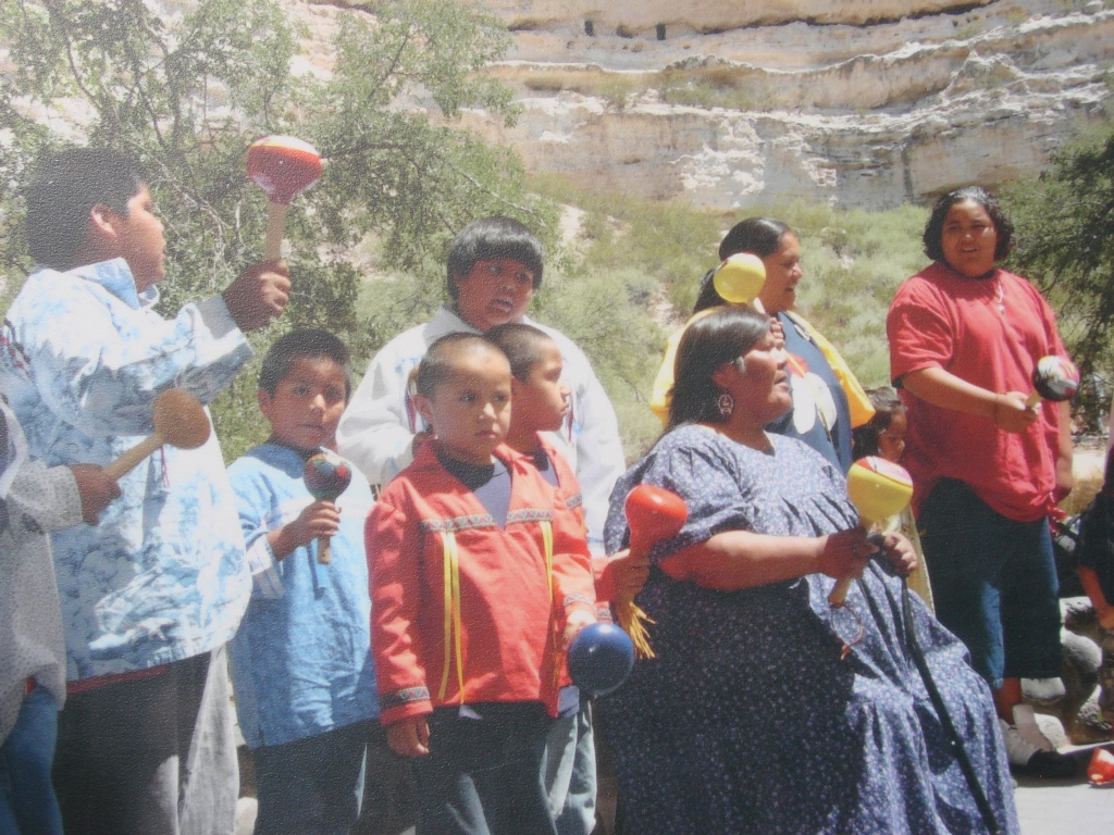 Yavapai Bird Dancers and Gourd Dancers celebrating a centennial at the site