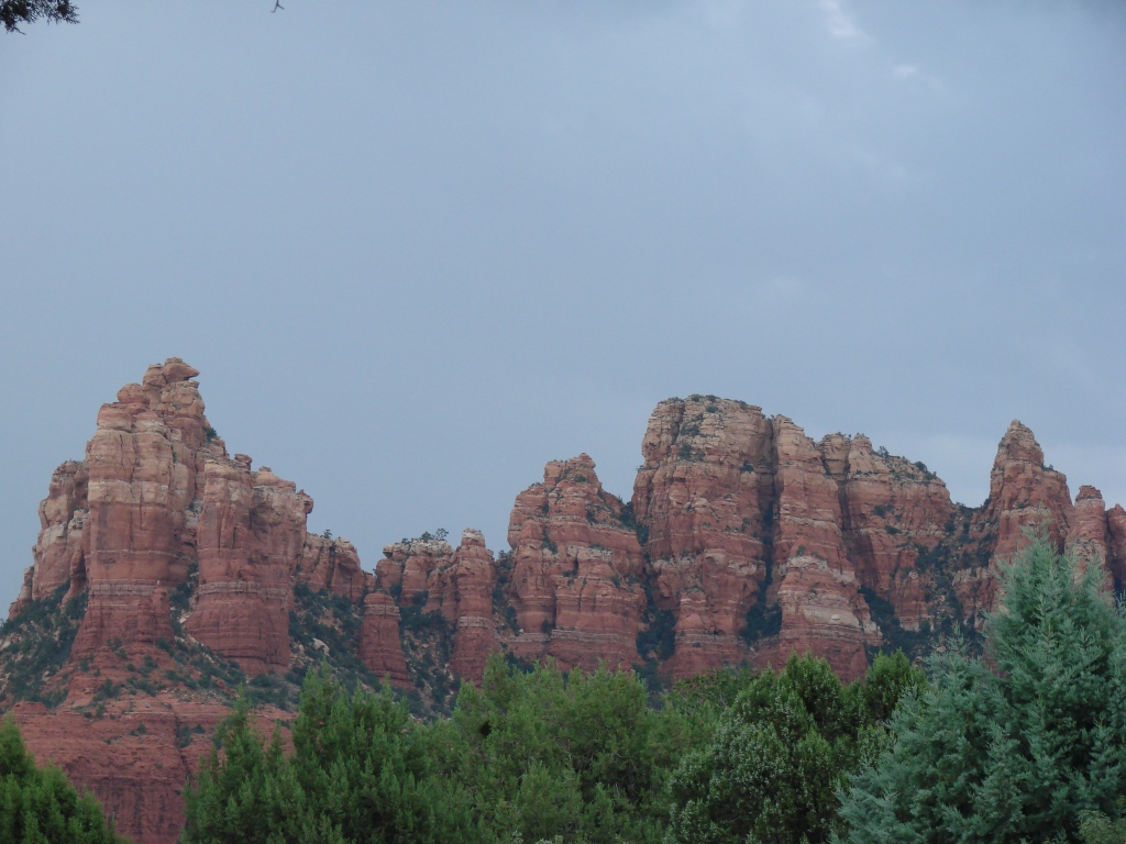 Sedona's massive red-rock formations