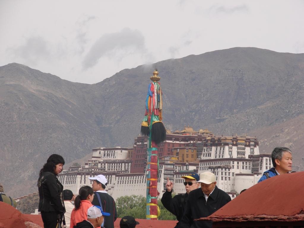 Tibetan prayer pole