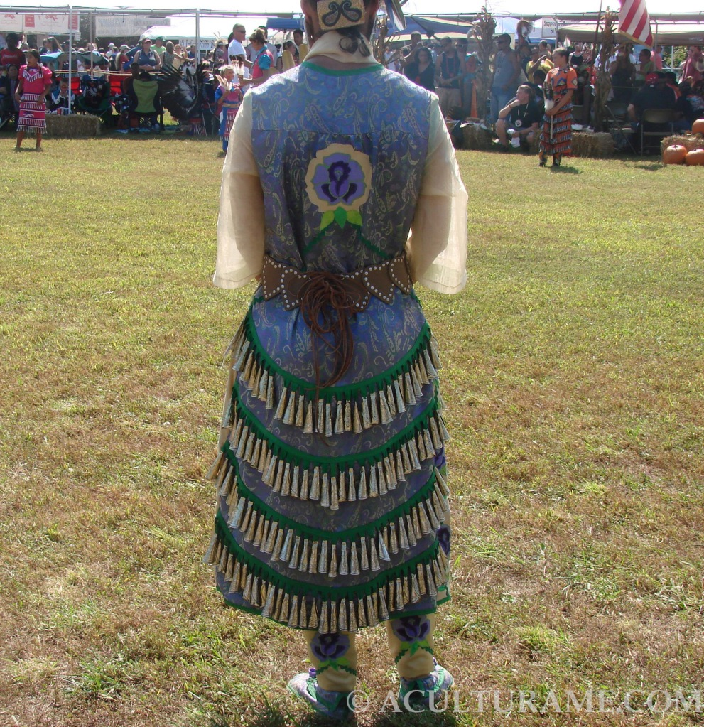 Jingle Dress designs vary according to tribe affiliation