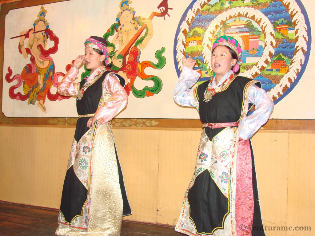 Tibetan Women Performing Guoxie Dance