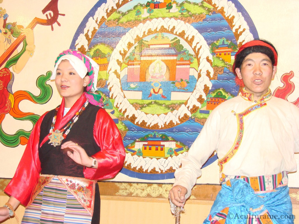Tibetan Performers Wearing Traditional Tibetan Dress
