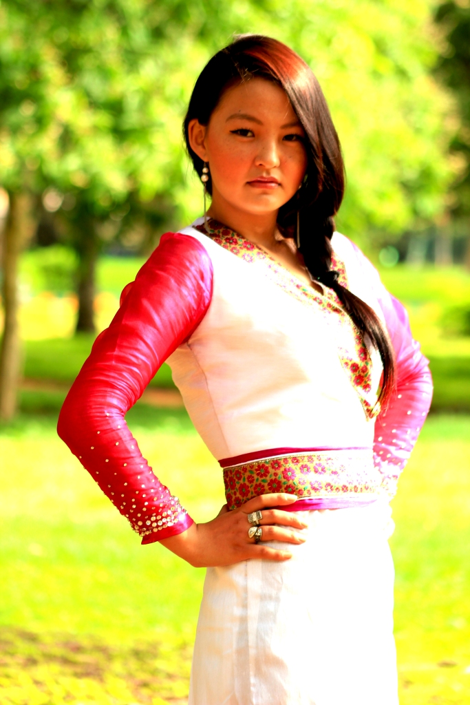 Contemporary chuba designed by Tibetan fashion designer, Jamphel Samdup Photo Credit: Phurkyi House