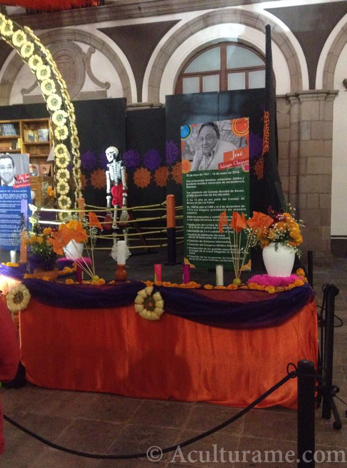 A decorated altar for Día de los Muertos