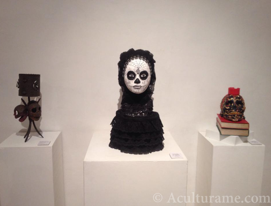 One of the many calavera decorations prepared for exhibition at Palacio Municipal