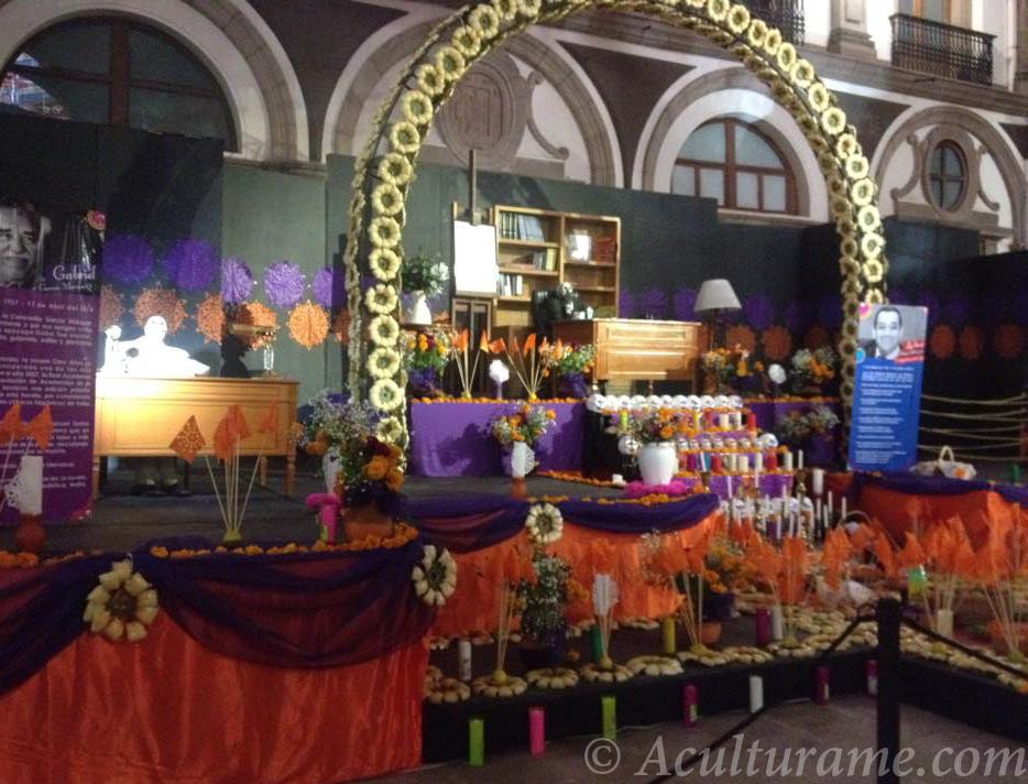 altar for Día de los Muertos