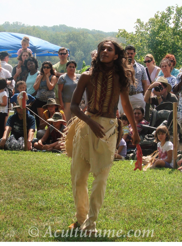 member of the Rappahannock Tribe performing a dance