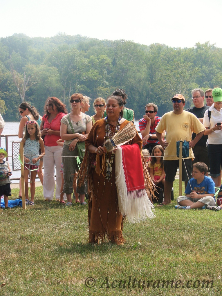 Native American storyteller at the Virginia Indian Festival