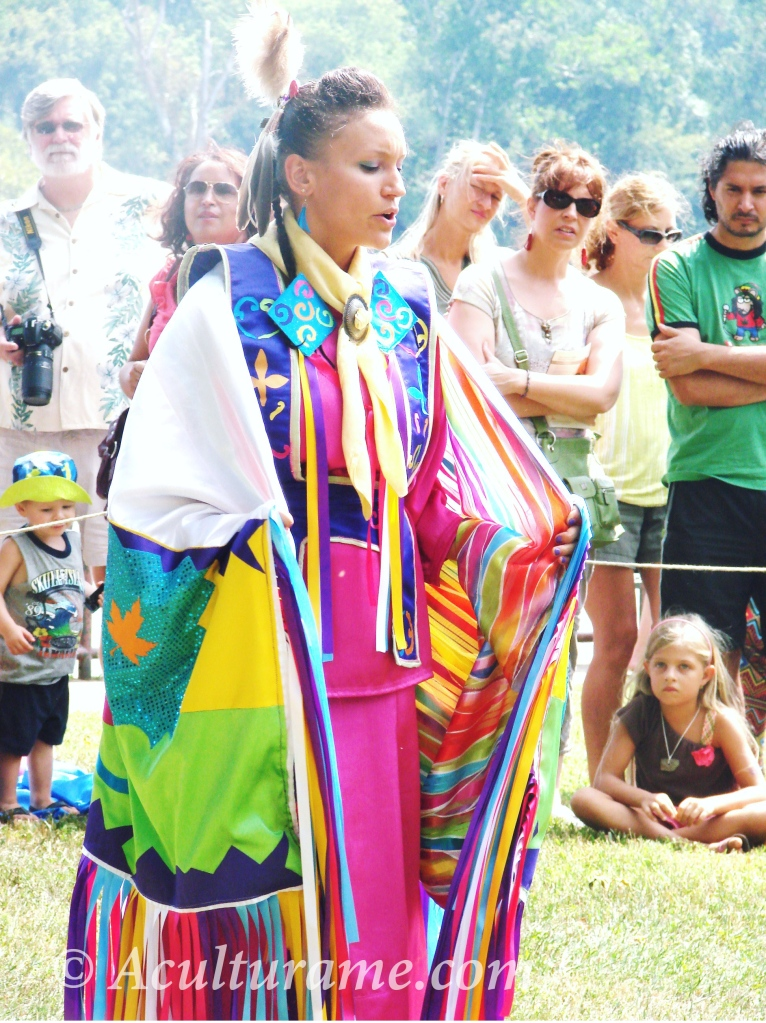 "Virginia Indian Festival Dancer performing the ""Butterfly Dance"" to express renewal and in giving thanks for new life, seasons, and new beginnings"