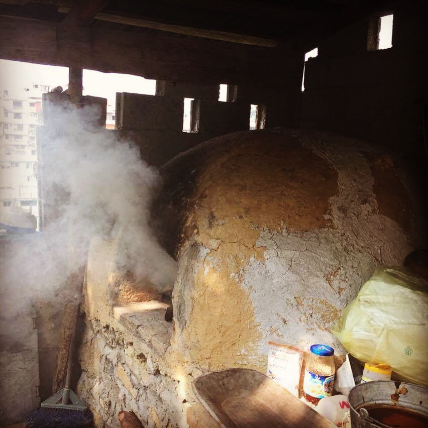 traditional adobe bake oven to make zacahil