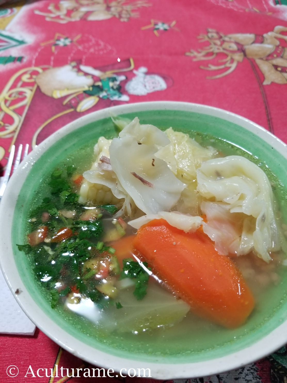 Caldo de Res or Cocido de Res is a traditional beef broth prepared in Mexico.