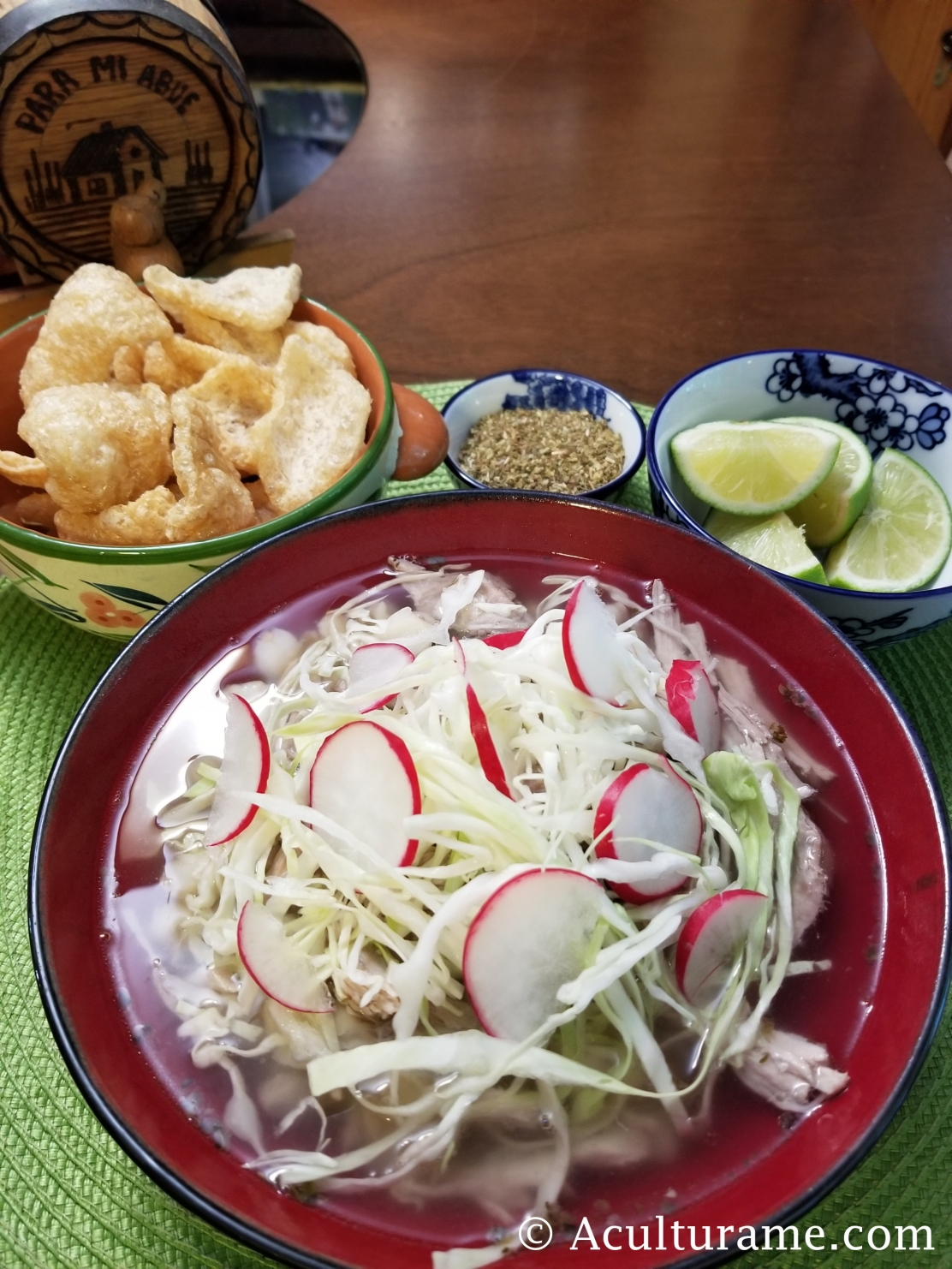 Pozole Blanco was my grandmother's signature dish.